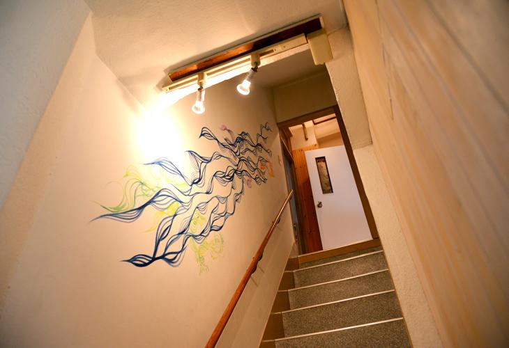 二階の食堂